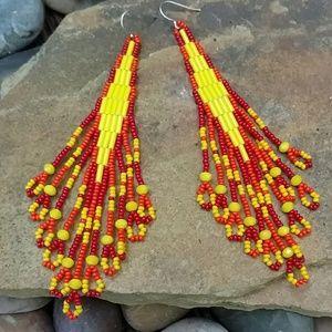 Native American bead earrings